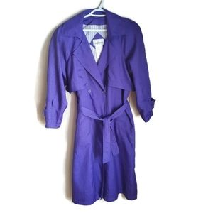 Vintage | Faux Double-breasted Purple Trench Coat